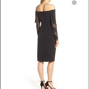 NWT Vince Camuto Lace Sleeve Off Shoulder Dress